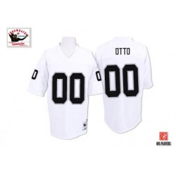 Mitchell and Ness Men's Authentic White Road Throwback Jersey Oakland Raiders Jim Otto 0