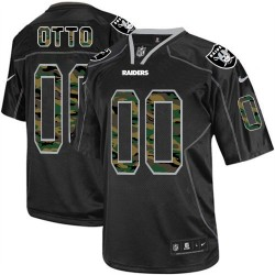 Nike Men's Elite Black Camo Fashion Jersey Oakland Raiders Jim Otto 0