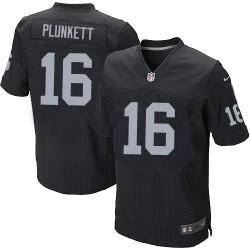Nike Men's Elite Black Home Jersey Oakland Raiders Jim Plunkett 16