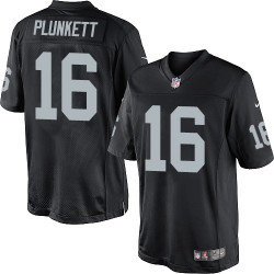 Nike Men's Limited Black Home Jersey Oakland Raiders Jim Plunkett 16