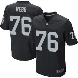 Nike Men's Elite Black Home Jersey Oakland Raiders J'Marcus Webb 76