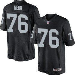Nike Youth Limited Black Home Jersey Oakland Raiders J'Marcus Webb 76