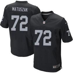 Nike Men's Elite Black Home Jersey Oakland Raiders John Matuszak 72