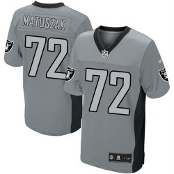 Nike Men's Elite Grey Shadow Jersey Oakland Raiders John Matuszak 72
