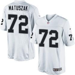 Nike Men's Limited White Road Jersey Oakland Raiders John Matuszak 72