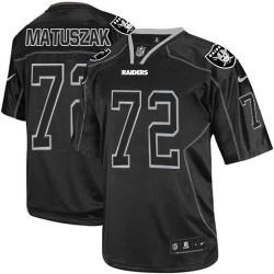 Nike Men's Elite Lights Out Black Jersey Oakland Raiders John Matuszak 72