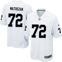 Nike Men's Game White Road Jersey Oakland Raiders John Matuszak 72