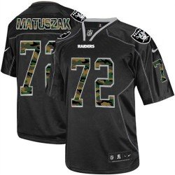 Nike Men's Limited Black Camo Fashion Jersey Oakland Raiders John Matuszak 72
