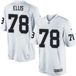 Nike Men's Limited White Road Jersey Oakland Raiders Justin Ellis 78