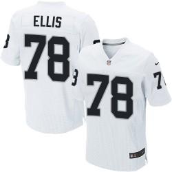Nike Men's Elite White Road Jersey Oakland Raiders Justin Ellis 78