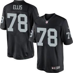 Nike Youth Elite Black Home Jersey Oakland Raiders Justin Ellis 78