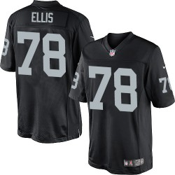 Nike Youth Limited Black Home Jersey Oakland Raiders Justin Ellis 78