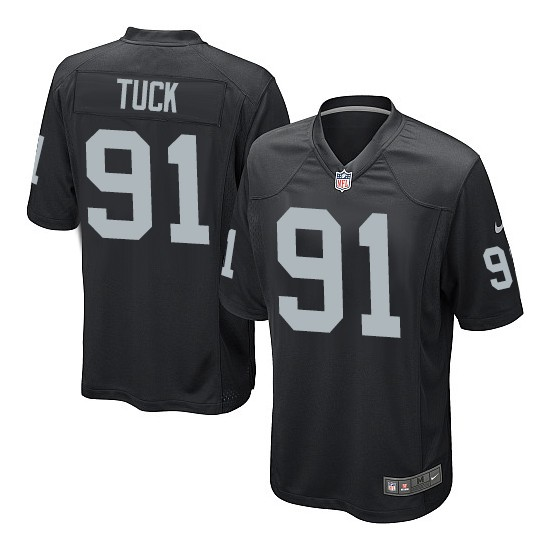 Nike Youth Game Black Home Jersey Oakland Raiders Justin Tuck 91
