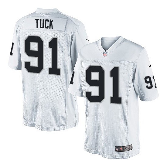 Nike Youth Limited White Road Jersey Oakland Raiders Justin Tuck 91