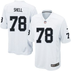 Nike Youth Elite White Road Jersey Oakland Raiders Art Shell 78