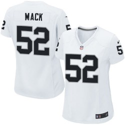 Nike Women's Limited White Road Jersey Oakland Raiders Khalil Mack 52