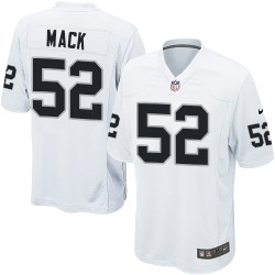 Nike Youth Game White Road Jersey Oakland Raiders Khalil Mack 52