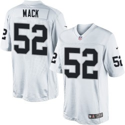 Nike Youth Limited White Road Jersey Oakland Raiders Khalil Mack 52