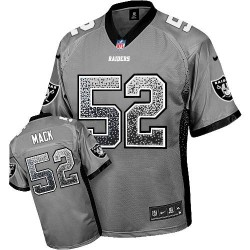 Nike Youth Elite Grey Drift Fashion Jersey Oakland Raiders Khalil Mack 52