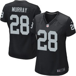 Nike Women's Game Black Home Jersey Oakland Raiders Latavius Murray 28