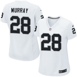 Nike Women's Limited White Road Jersey Oakland Raiders Latavius Murray 28