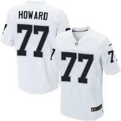 Nike Men's Elite White Road Jersey Oakland Raiders Austin Howard 77