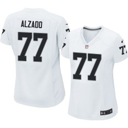 Nike Women's Limited White Road Jersey Oakland Raiders Lyle Alzado 77