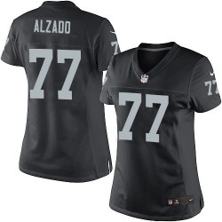 Nike Women's Elite Black Home Jersey Oakland Raiders Lyle Alzado 77