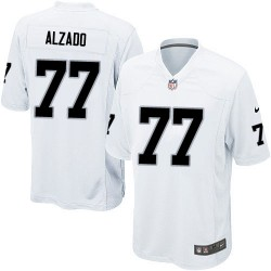 Nike Youth Elite White Road Jersey Oakland Raiders Lyle Alzado 77