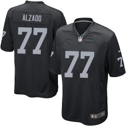 Nike Youth Elite Black Home Jersey Oakland Raiders Lyle Alzado 77