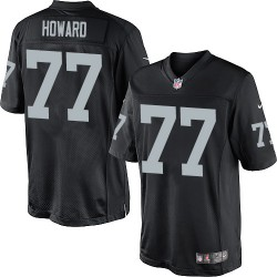 Nike Men's Limited Black Home Jersey Oakland Raiders Austin Howard 77