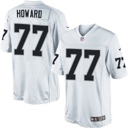 Nike Men's Limited White Road Jersey Oakland Raiders Austin Howard 77