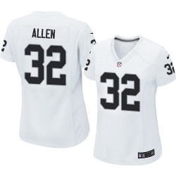 Nike Women's Limited White Road Jersey Oakland Raiders Marcus Allen 32