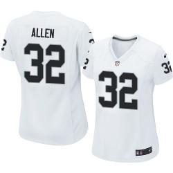 Nike Women's Elite White Road Jersey Oakland Raiders Marcus Allen 32