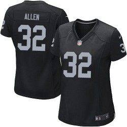 Nike Women's Game Black Home Jersey Oakland Raiders Marcus Allen 32