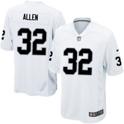 Nike Youth Elite White Road Jersey Oakland Raiders Marcus Allen 32