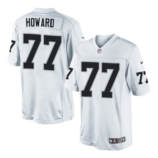 Nike Youth Elite White Road Jersey Oakland Raiders Austin Howard 77