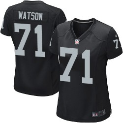 Nike Women's Game Black Home Jersey Oakland Raiders Menelik Watson 71