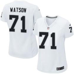 Nike Women's Game White Road Jersey Oakland Raiders Menelik Watson 71