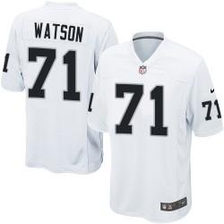 Nike Youth Elite White Road Jersey Oakland Raiders Menelik Watson 71