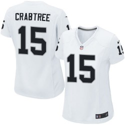 Nike Women's Elite White Road Jersey Oakland Raiders Michael Crabtree 15
