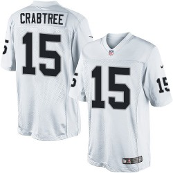 Nike Youth Elite White Road Jersey Oakland Raiders Michael Crabtree 15