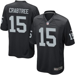 Nike Youth Game Black Home Jersey Oakland Raiders Michael Crabtree 15