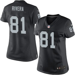 Nike Women's Limited Black Home Jersey Oakland Raiders Mychal Rivera 81