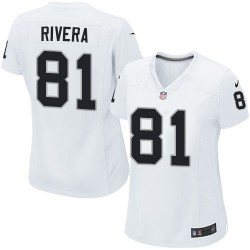 Nike Women's Limited White Road Jersey Oakland Raiders Mychal Rivera 81