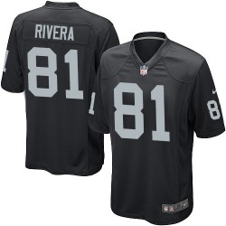 Nike Youth Elite Black Home Jersey Oakland Raiders Mychal Rivera 81
