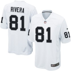 Nike Men's Game White Road Jersey Oakland Raiders Mychal Rivera 81