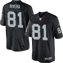 Nike Men's Limited Black Home Jersey Oakland Raiders Mychal Rivera 81