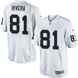 Nike Men's Limited White Road Jersey Oakland Raiders Mychal Rivera 81