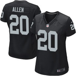 Nike Women's Game Black Home Jersey Oakland Raiders Nate Allen 20
